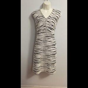 Vince Camuto black & white sheath dress